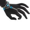 Hand Jewellery Drop Turquoise Aurora Borealis
